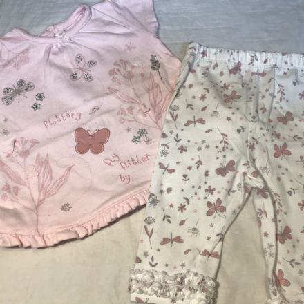 0-3 Month Glitter Butterfly Set